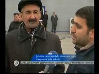 Şəhidin cənazəsi dəfn olunması üçün Naxçıvana yola salınıb