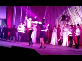 Shami танцует с ученицами Школы Лезгинки города Харькова. Даргинская кровь хлынула на танцпол=))