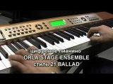 Демонстрация цифрового пианино ORLA Stage Ensemble функция автоакомпанимента вар.3
