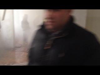 Bakının mərkəzində bina yandı-2