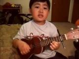 малыш так мило поет песню)))))