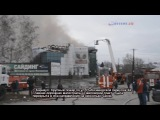 Барнаул. Горят жилые дома и ТЦ