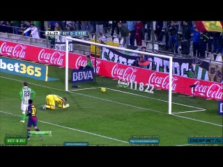 Реал Бетис - Барселона  09/12/2012. 86 гол Месси в 2012 году.