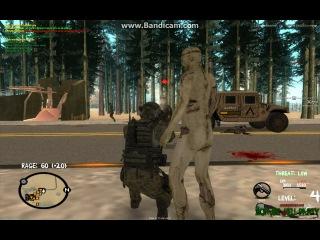 ГТА Сан-Андреас  мультиплеер(МТА)--вояки против зомби