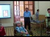 Фаина Лебедева читает свои стихи на презентации книги