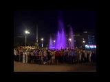 Необычный светомузыкальный фонтан появился в нашем городе перед «ДК Октябрь»