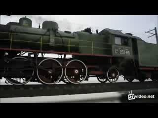 Паровоз Су251-86 на дамбе Кременчугского ВДХР
