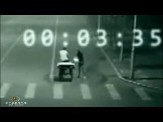 Телепортация на дороге, зафиксированная камерой наблюдения.