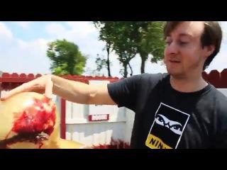Убить зомби сюрикены+нунчаку