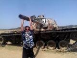 Подбитый танк в Африке