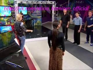Элина Камирен, Саша Задойнов и Женя Руднев,Либерж Кпадону в городских квартирах разучивают танго Дневной эфир 30.12.2013г.