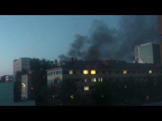 Пожар в Тюмени. 28.06.13