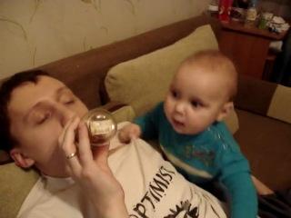 малыш и папа )))
