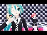 Vocaloids Miku Hatsune, Teto Kasane, Rin Kagamine -
