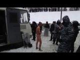 Беркут раздел активиста до гола на морозе, засунул ему в руки палку и фотографируется с ним. Так кто фашисты?