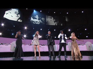 Celine Dion, Jennifer Hudson, Smokey Robinson, Carrie Underwood Usher - Earth Song (Michael Jackson Tribute).HDTV.1080i.Feed