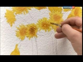 С.Андрияка. Уроки рисования. Урок11. Одуванчики(акварель)