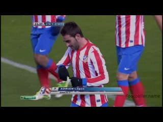 Адриан видео гол. Атлетико Мадрид - Хетафе. Чемпионат Испании по футболу 11 тур. Footballer.name