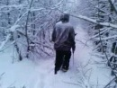 пошли за ёлкой в лес))