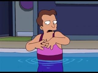 Зойдберг в бассейне