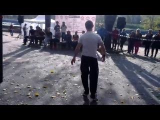 Открытие workout площадки во Владикавказе. Фристайл 1 место. Хадонов Тимур