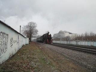 Паровоз Л-3653, Мост окружной железной дороги, Проспект Маршала Жукова, 24.11.2012г.