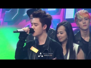 130604 Happy Camp Kyungsoo singing 想你的夜 [ avell do ]