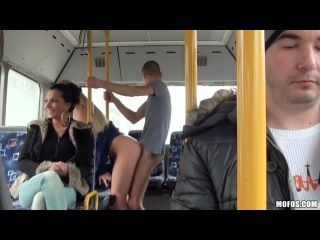 The sexual czech whore strikes in the bus