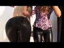 PRN | Sexy leather leggings masturbating