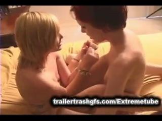 Trailer trash kinky lez tickling n wrestling