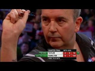 Phil Taylor - Andy Hamilton (PDC World Darts Championship 2013 / Quarter final)