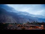 Пыльная буря над городом Финикс, штат Аризона, США.