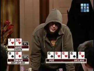 Покер -  Неадекватная игра Laak vs durrrr