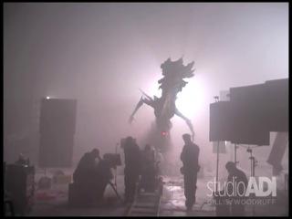 Avp alien queen on set