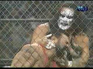 WCW NITRO 31.05.1999: Rick Steiner vs. Sting (Steel Cage Match) - Титаны Рестлинга на канале ТНТ / Николай Фоменко