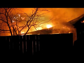 Под Москвой в селе Булатниково сгорел частный дом (26.12.13.)
