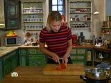 Едим дома с Юлией Высоцкой 18.11.2012 / Пончики, рыба с рисом и зелёными овощами,наполеон из баклажан, овощей и сыра бурата