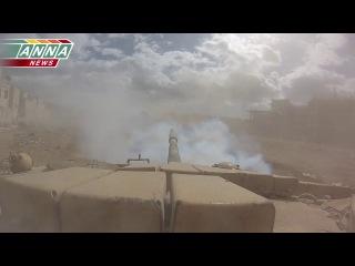 Война в Сирии, Джобар, Молниеносная атака танкистов от Anna News, боевые действия, перестрелки