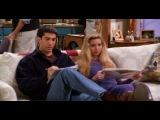 Росс и Фиби разгадывают кроссворд.