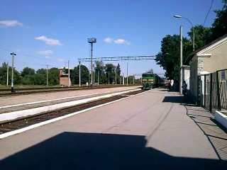 Прибытие скорого поезда Москва- Кишинёв. Прибытие на 1 путь станции Тирасполь