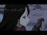 Из аниме Танкистки песня катюша едут в видео на Т-34