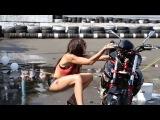 Травматический FAIL при мото-мойке. Мотоциклы и мотоциклисты | Yamaha | Ktm | Honda | Suzuki | Ducati | Bmw | Kawasaki | Стантрайдинг | Трюки | Слет | Дрифт | Прохват | Дтп | Прикол | Мото |  Гонки | Драг |  Спортбайк | Драка | GoPro |