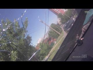 Авария Пенза Кураева-Красная Скорая по встречке без сирены 29.05.13 | ДТП авария