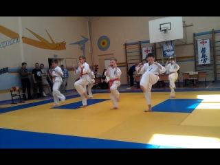 показательные выступления на 1ом открытом чемпионате по Каратэ Кёкусинкай в г.Кострома