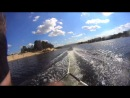 первый раз встала на водные лыжи)было круто)