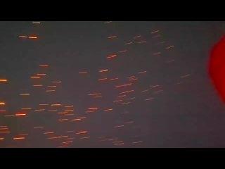 Запуск небесных фонариков в г.Усолье-Сибирское 28.07.2012