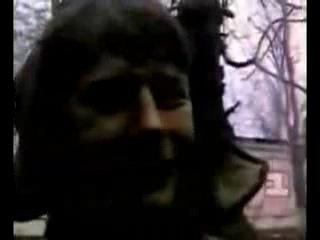 Терский казак на войне в Чечне.
