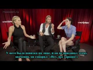 Интервью на Moviefone о фильме «Белоснежка и охотник» (2012)