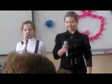 Вика Великоборец и Арина Курепина поём Лоя розы тёмно-алые