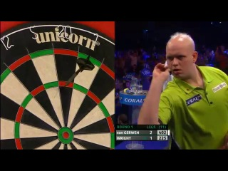 Michael van Gerwen vs Peter Wright (PDC Coral Masters 2013 / First Round)